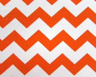 "1"" Orange Chevron Fabric"