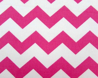 "1"" Pink Chevron Fabric"