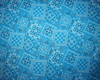 Aqua Bandana Fabric