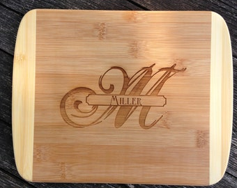 Monogram Engraved Cutting Board,Personalized Cutting Board,Shower Gift,Wedding Gift,Anniversary Gifts,Housewarming Gift,Laser Engraved