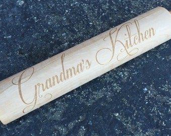 Engraved Rolling Pin, Rolling Pin, Christmas Gift, Housewarming Gift, Hostess Gift, Baking, Engrave, Custom Rolling Pin, Gift, Kitchen,