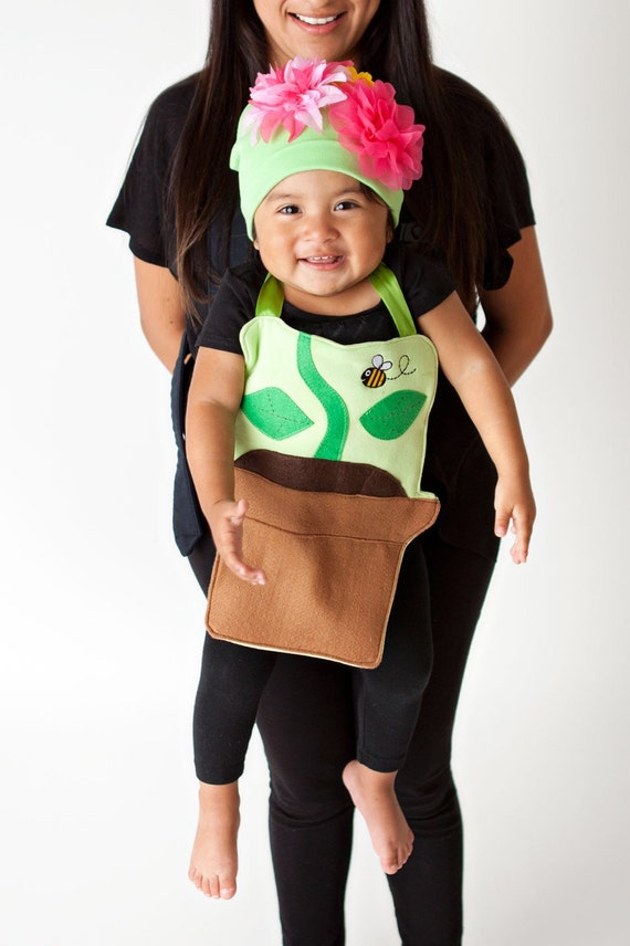 Peonie the Flower Pot Baby Carrier Costume by ticklesandtootsMB