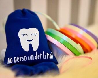 Phosphorescent teeth, tooth fair bag bag