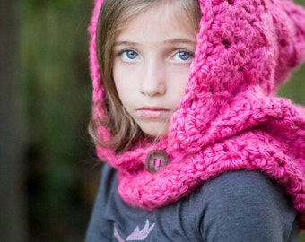Hooded cowl, Crochet hooded cowl, chunky hooded cowl