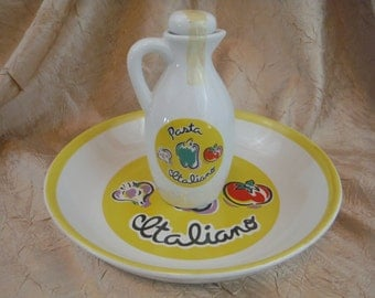 1990's HH 'Pasta Italiano' Bowl and Pitcher-Collectible-Decorum-Usable