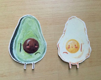 Avocado and Egg Friends Stickers