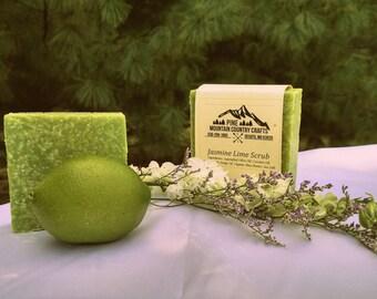 Jasmine Lime  Scrub Soap