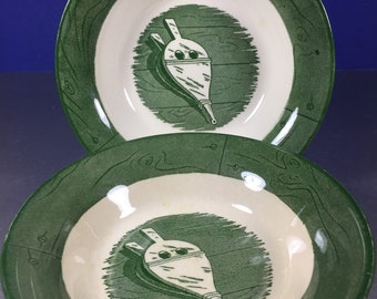 Colonial Homestead Green Bowl 2pc