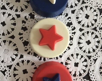 STAR Chocolate Covered Oreos(12 qty) - Stars/STAR Party/Star Favors/Children's Party/Patriotic Favors/Party Favors/Chocolate Covered Oreos