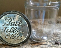 Vintage Ball jelly jar with press on tin lid