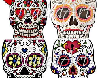 Red Bow Sugar Skull Printable, Dia De Muertos Decorations , Day of the Dead Party Supplies, Halloween Decor