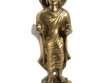 "11.75"" inch - Brass ""Standing Buddha"" - made in India"