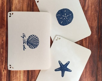 Embossed Beach/Shell Note Cards (Set of 6)