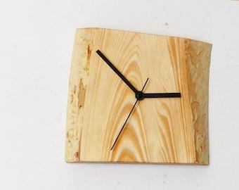 Clock, wooden clock, rustic clock, wall clock, gift ideas (022)