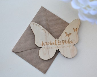 Personalised Magnetic Wooden Save the Date / Wedding Save the Dates