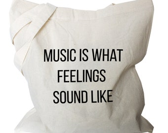 Music Bags - Music Tote Bag - Bag for Music Lovers - Music Gifts (MB1)