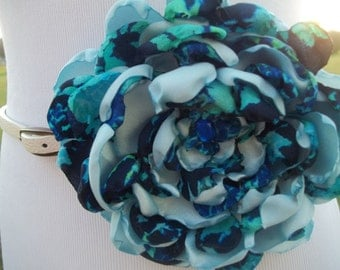 Blue belt flower pin/ sash pin/ lapel pin
