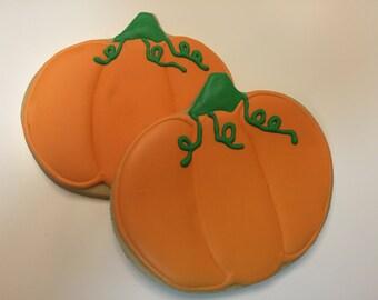 Pumpkin Cookies, FALL cookies, Thanksgiving, Halloween Cookies