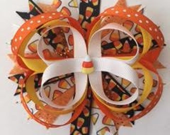 Candy Corn Loop Bow