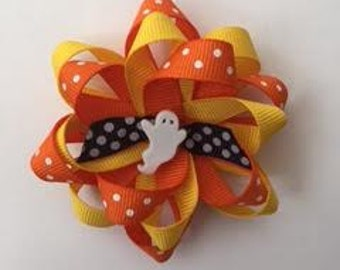 Orange and Yellow Ghost Bow