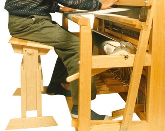 Items Similar To Small Adjustable Pine Weaving Bench On Etsy