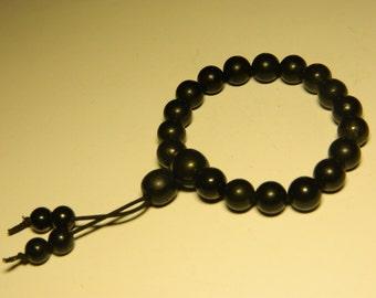 Shungite Beads Tibet Buddhist Prayer Bracelet Mala. FREE SHIPING