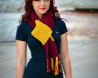 ON SALE: Unisex Harry Potter Costume/Arizona State Football Crochet Scarf