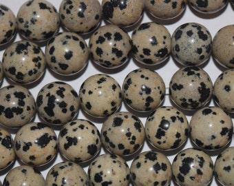 3mm Dalmation Jasper Round Beads, Natural Gemstone beads, 20 Beads