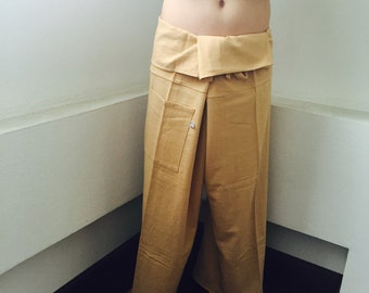 100% Cotton  with LT Brown Fisherman Pants