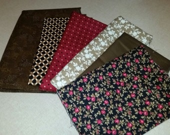 Fabric Bundle - Rich Browns and Red