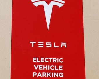 Tesla Parking Sign