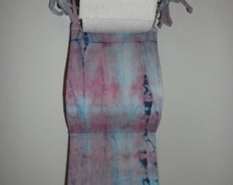 Toilet paper holder, hand dyed, tie dye, 2 roll holder, bathroom organizer
