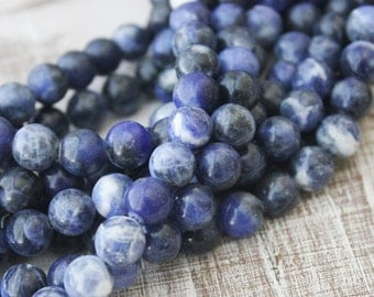 8mm sodalite smooth round blue gemstone throat charka stone gemstone beads blue beads
