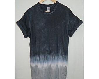 Tie Dye T-Shirt acid wash T-shirt hipster Retro 80s vintage 90s dip dye ombre dip dye men women unisex  Galaxy top