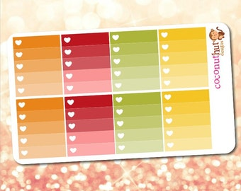 Autumn / Fall / Thanksgiving / Harvest Ombre Heart Checklists
