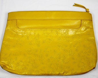 Retro Almost Mustard Yellow Toni Clutch Evening Bag Vintage Purse