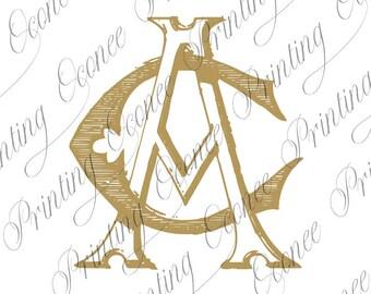 AC or CA Vintage Monogram