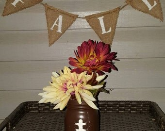 Football Mason Jar - Perfect for a centerpiece at your football party