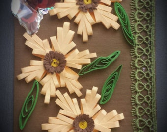 Pretty Quilled Greeting Card