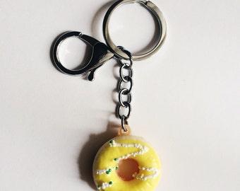Yellow Donut Keychain