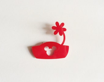 Minnie Flower Pot Hat Brooch
