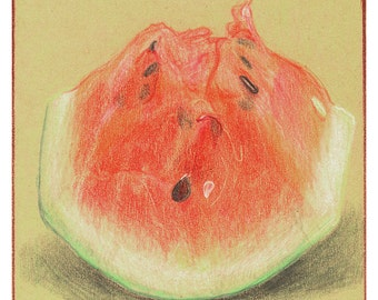 Watermelon Chunk Greeting Card: Fun With Food
