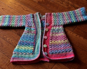 Crochet Rainbow Sherbet Sweater