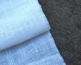 100% Natural Ivory White Linen Fabric