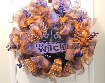 Halloween Seasonal Deco Mesh Door Wreath