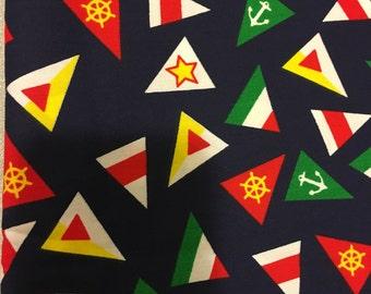 1 Yard Nautical Flags Canvas Fabric