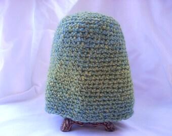 Child Crochet Hat multi-greens