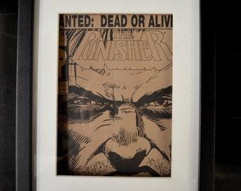 Framed Punisher Comic Wanted Dead or Alive #57
