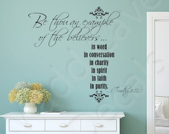 1 Timothy 4:12 Be Thou An Example Vinyl Wall Decal Quote Scripture