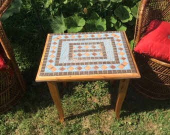 Handmade mosaic table